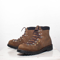 6 | Swiss Made Hiking Trail Boots Brown Mountaineering Hikers (marked boys 4 E)