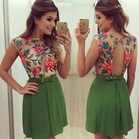 womens hollow out floral dress party dress gift 41