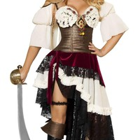 Roma Costume 4422-3Pc Sexy Pirateer