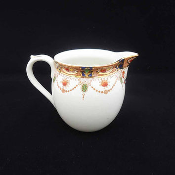 Vintage/Antique Imari Pattern J.M. & Co Devon Creamer, J.M. and Co Bone China Milk Jug