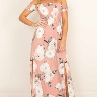 Daytime Dancer maxi dress in dusty pink floral Produced By SHOWPO