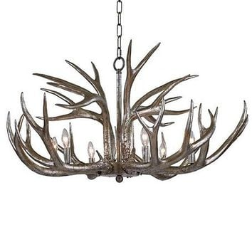 Regina Andrew Antler Chandelier - Silver | New Lighting | What's New! | Candelabra, Inc.