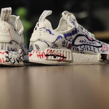 "Vetements x Adidas NMD Boost ""Custom Graffiti"" BA7527 Men Women 242e5b0d4b"