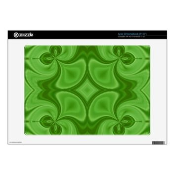 Decorative Green wood pattern Acer Chromebook Skins