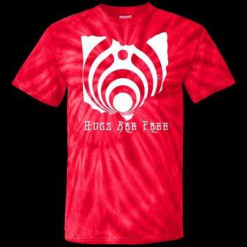 Hugs Are Free Ohio Bassdrop Tie Dye T-Shirt