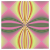 Pink, Yellow, and Black Fractal Art Outlet Cover