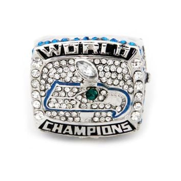 drop shipping 2013 Seattle Seahawks Championship Ring custom big size 11 sport Jewelry football Ring For Men Jewelry