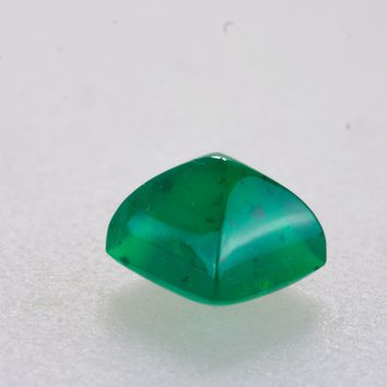 1.24ct Sugar Loaf Cut Zambian Emerald