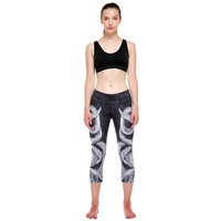 High Waist Printed Cropped Stretch Yoga Leggings Pants