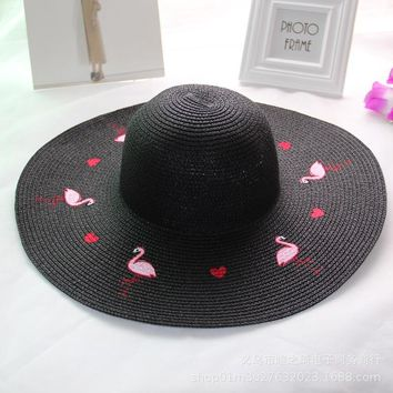 Womens Big Brim Straw Hat