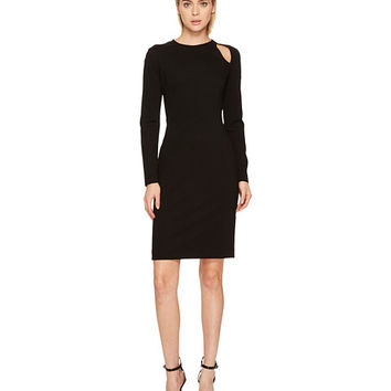 Versace Collection Long Sleeve Cut Out Jersey Dress