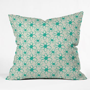 Allyson Johnson Mod Flowers Throw Pillow