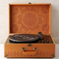 Crosley X UO AV Room Embossed Portable USB Vinyl Record Player- Brown One