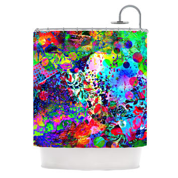 "Ebi Emporium ""Jungle Fever"" Multicolor Shower Curtain"