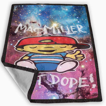 Mac Miller Most Dope Galaxy Nebula Blanket for Kids Blanket, Fleece Blanket Cute and Awesome Blanket for your bedding, Blanket fleece **