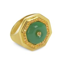 Sho London Designer Rings Aventurine Clementina Ring