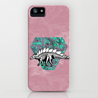 Stegosaur Fossil iPhone & iPod Case by chobopop | Society6