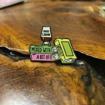 Liquor and Intellect Enamel Pin