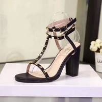 """VALENTINO"" new thick heels"