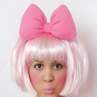 Minnie Mouse Headband Bow Big HOT PINK women teens poofy puffy plushy anime