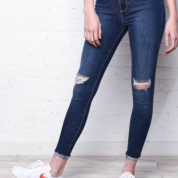 Off The Cuff Skinny - Dark Wash