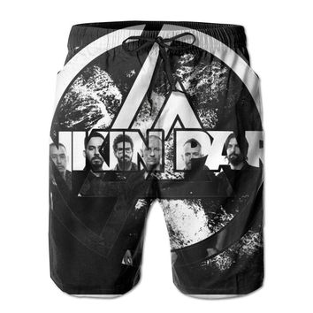 Chester Bennington Linkin Park Band Symbol Mens Fashion Casual Beach Shorts