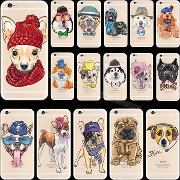 5 5S SE Luxury Design Pattern Pet Dog Soft Silicon Phone Cover Cases For Apple iPhone 5 iPhone 5S iPhone5S Case Shell Best Hot !
