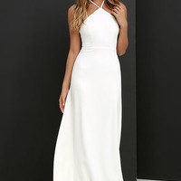 Tour de Force Ivory Maxi Dress
