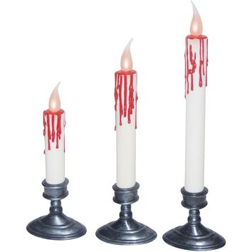 White Blood Dripping Candles -