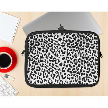 The Vector Leopard Animal Print Ink-Fuzed NeoPrene MacBook Laptop Sleeve
