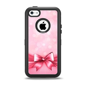 The Magical Pink Bow Apple iPhone 5c Otterbox Defender Case Skin Set