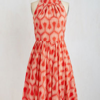 50s Long Halter A-line The Bolder I Get Dress