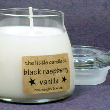 Black Raspberry Vanilla Soy Candle Jar - Hand Poured and Highly Scented Container Candles