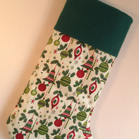 Modern Ornaments Christmas Stocking