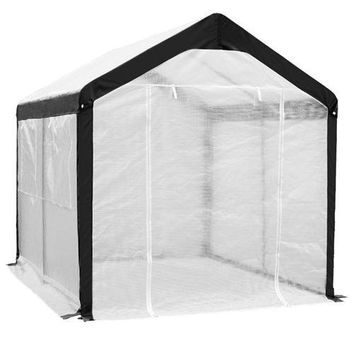 Outdoor Garden 8 x 10 Ft Greenhouse with Steel Frame and White PE Cover