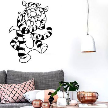 Wall Stickers Vinyl Decal Winnie The Pooh Cartoon Child Positive Room (ig1050)