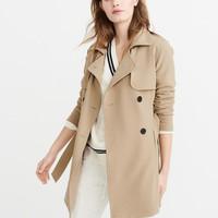 Womens Drapey Trench Coat | Womens Coats & Jackets | Abercrombie.com