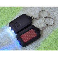 Solar Power 3LED Light Keychain Torch Flashlight Key Ring Gift Rechargeable Useful SM6