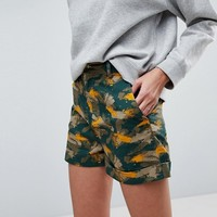 ASOS Shorts in Smudge Camo Print at asos.com