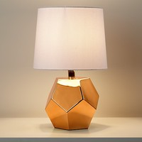 Kids Lighting: Gold Geometric Lamp Base in Table Lamps | The Land of Nod
