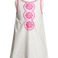 Girl's Mini Boden Embroidered Shift Dress,