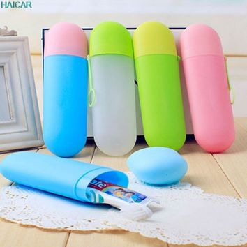 New Case Portable Travel Brush Toothbrush Storage Box Toothpaste Cup Cover Camping Sets Travel Kit Support Dropship feb22