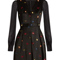 Obsession embroidered satin dress | Alexander McQueen | MATCHESFASHION.COM US