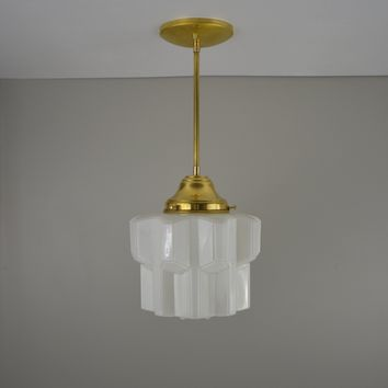 Art Deco Skyscraper Pendant Light