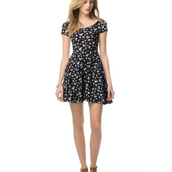 Aeropostale  Floral Scoop Neck Dress