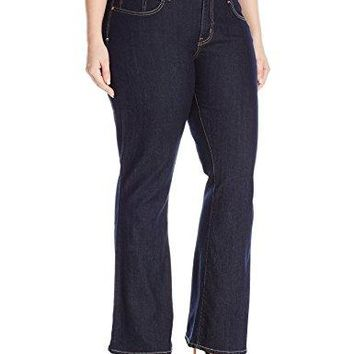 Signature by Levi Strauss & Co Women's Plus-Size Totally Shaping Boot Cut Jeans, After Hours, 24 Medium
