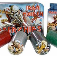 Iron Maiden Poker Set - Cards Chips & Tin