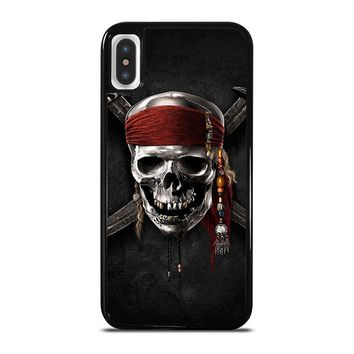 PIRATES OF THE CARIBBEAN SKULL iPhone 5/5S/SE 5C 6/6S 7 8 Plus X/XS Max XR Case Cover