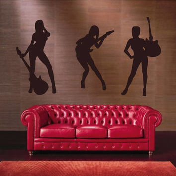 rock band wall decals guitarist wall decals Rock Music wall decals rock wall decals kik2607