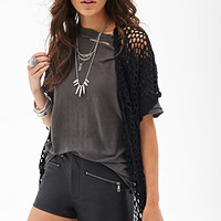 FOREVER 21 Zippered Faux Leather Shorts Black